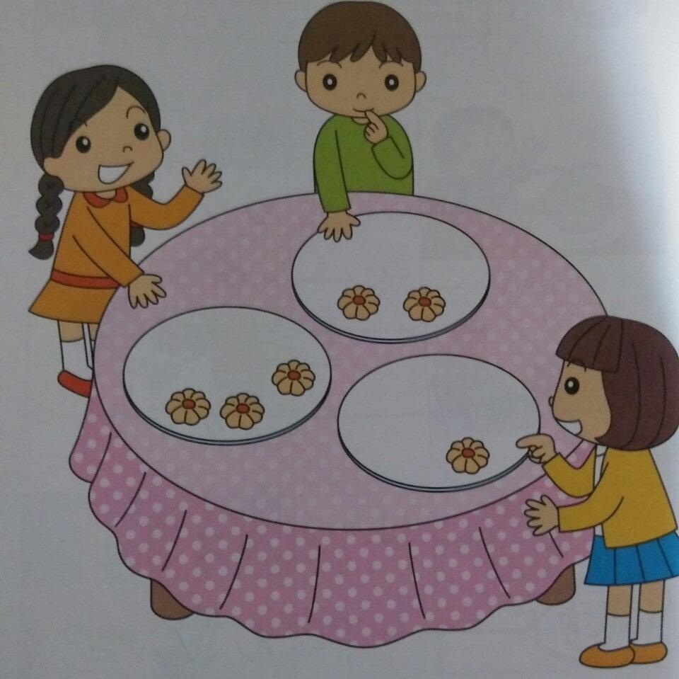 クッキーを4個ずつにする